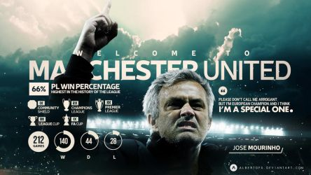 Welcome to Manchester United, Jose Mourinho! by AlbertGFX