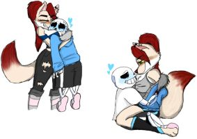 Sans and Celeste doodles by iFluffy-Kitten