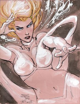 Emma Frost Commission by Freddie Williams II by DeanSummers1