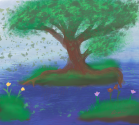 Tree And Water by SketchPenWriter