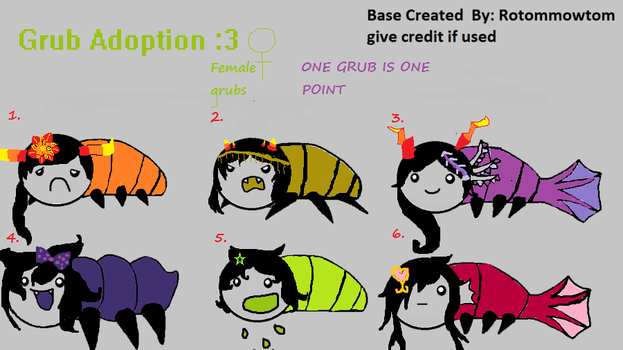 Grub Adoption by RainbowDoggy123