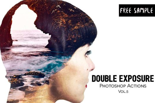 Free Double Exposure Photoshop Actions Vol.5 by symufa