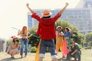 Luffy Let's Go, Straw Hats Cosplay by firecloak