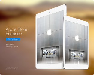 Apple Store Entrance Wallpaper by ncrow