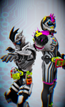 [MMD KAMEN RIDER] Duo Memetic Bugster by MIST-TO-GUN