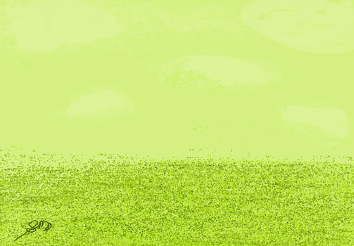 Lime grass field by Kawinloa