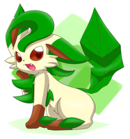 Leafeon the Pokemon cute by BiyomonCuty