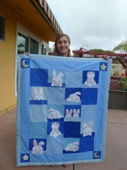 Full Length Bunny Quilt by Bella-Aurora