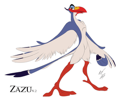 Anthro Zazu V.2 Concept by GunZcon
