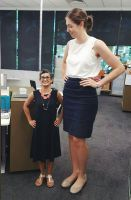 Tall woman short woman at the office by lowerrider