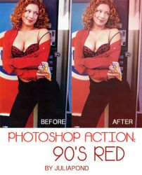 Photoshop Action - 90's Red (free download) by juliapond