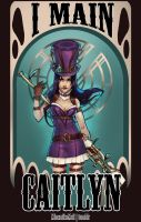 Caitlyn- League of legends by MinemikoMali