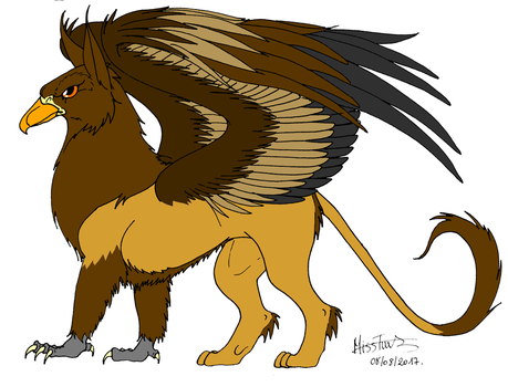 Griffon (coloured) by TurtleClairou