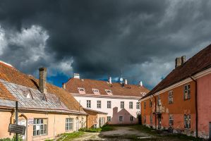 Tallinn under dramatic sky by Rikitza