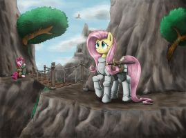 On high adventure with fluttershy by otakuap