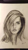 Emma Watson. Practice drawing, vine charcoal. by akarudsan