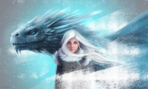 The Ice Dragon by Knesart