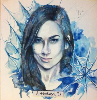 Aj Lee - Watercolor by Artbynash