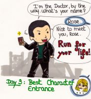 Art Challenge 9, Doctor Who: Favorite Entrance by WhatItMeansToBeHuman