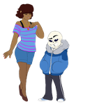 Frisk and Sans 2.0 by Atomic52