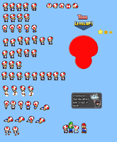 MLSS Toad Sprites by TheCynicalPoet