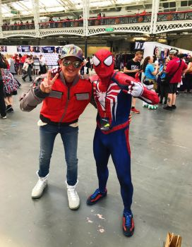 Me and spiderman by rocketman28