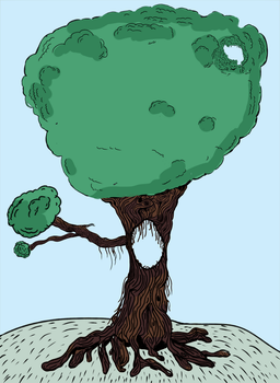 Tree (Colored) by Sleepy1ntrovert