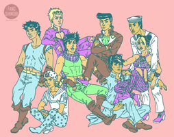 Pastel Jojos by fangshinobi