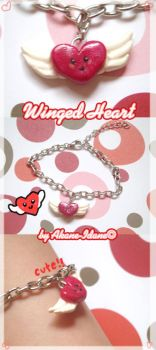 Winged Heart Bracelet by Akane-Idane