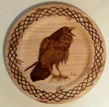Never More - pyrography by ckatt01