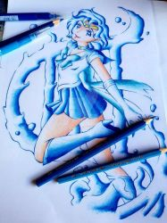 Sailor Mercury coloring by sachiko2189