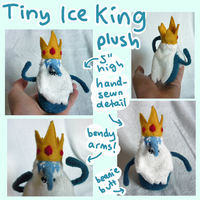 Tiny Ice King Adventure Time plush! by scilk