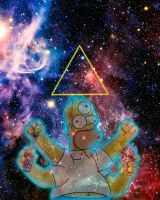 Cosmic Homer in space drinking duff by SYNTH-GUY