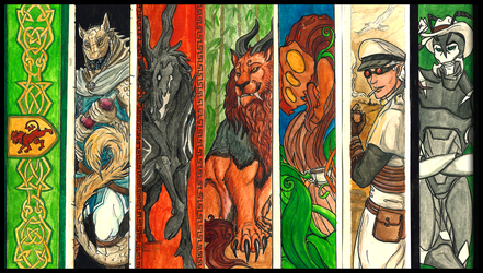 Bookmarks! (Xmas gifts) by RecklessJack