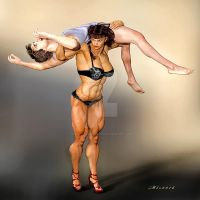Cassie and Mike_Married to Muscle by MichelleLeRainbow