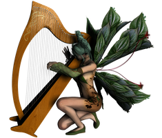 Harpist - faery collection by Umrae-Thara