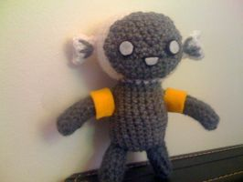Leland the cough drop (Dr. Tran) Amigurumi by lovechairmanmeow