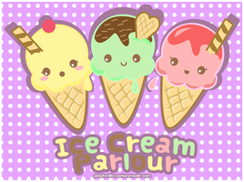 Kawaii Ice Cream by PeachMilktea