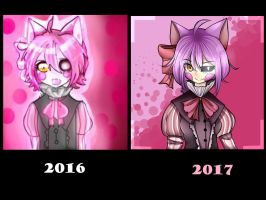 Mangle Human Version -Draw It Again Challenge by FriSk-tan
