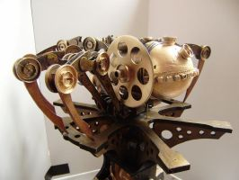 Steam Punk Spider rear view by impsandthings