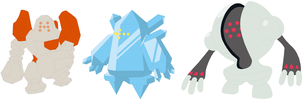 Regirock, Regice and Registeel Base