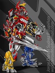 MEGAZORD ACTIVATED by wingzerox86