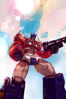 Optimus Prime - for Chris by angryangryasian