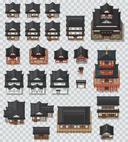 Japanese Style Tileset Mix by PeekyChew