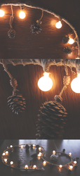 Pinecone lightstring by Nymla