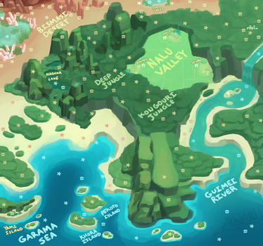 NALU WORLD MAP by Pajuxi