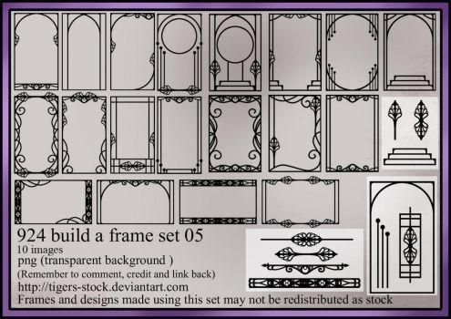 924 Build A Frame Set 05 by Tigers-stock