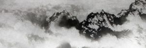 snow mountains by blackbeat