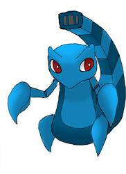 Fakemon -- SCORAQUA by omegagroudon