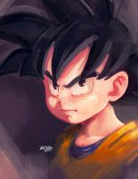 Goten bust by Mark-Clark-II